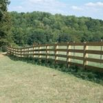 Wood 4 Rail Split Rails Fence